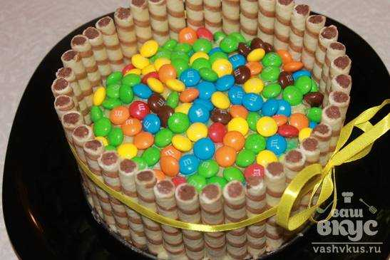 Торт из трубочек рецепт с фото