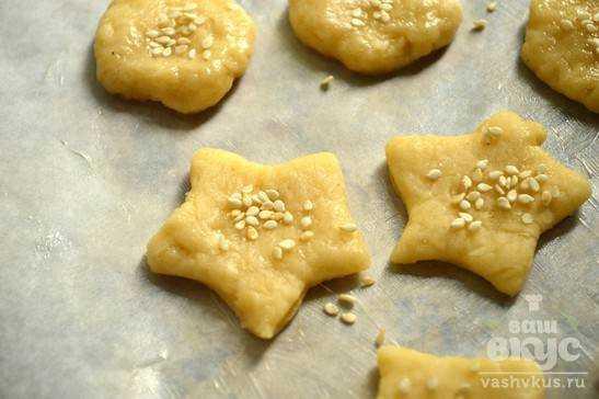 Песочное печенье с кунжутом рецепт с пошагово