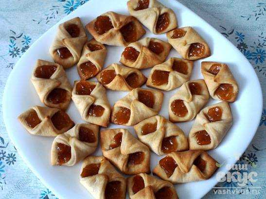 Слоеные конвертики с вареньем рецепт пошагово