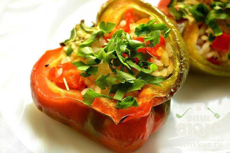 Вегетарианские фаршированные перцы рецепт с фото в мультиварке