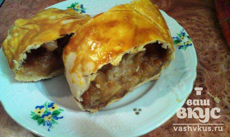 Штрудель с яблоками в духовке пошаговый рецепт с
