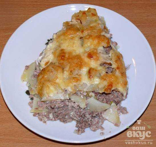 Картофельно мясная запеканка пошаговый рецепт