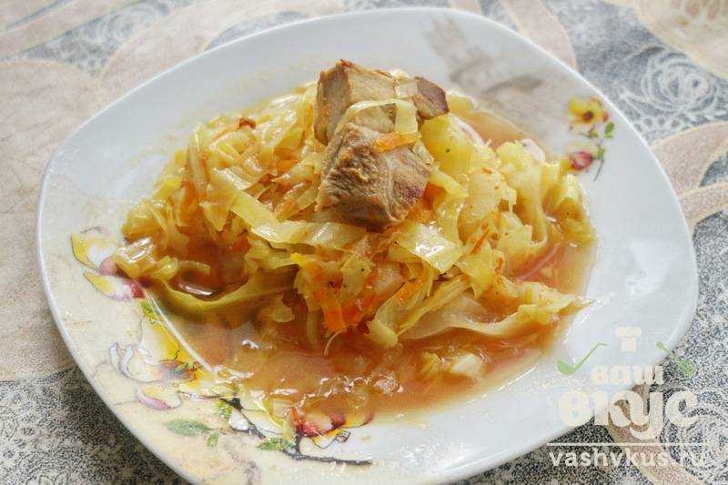 кабачки с капустой тушеные рецепт с фото