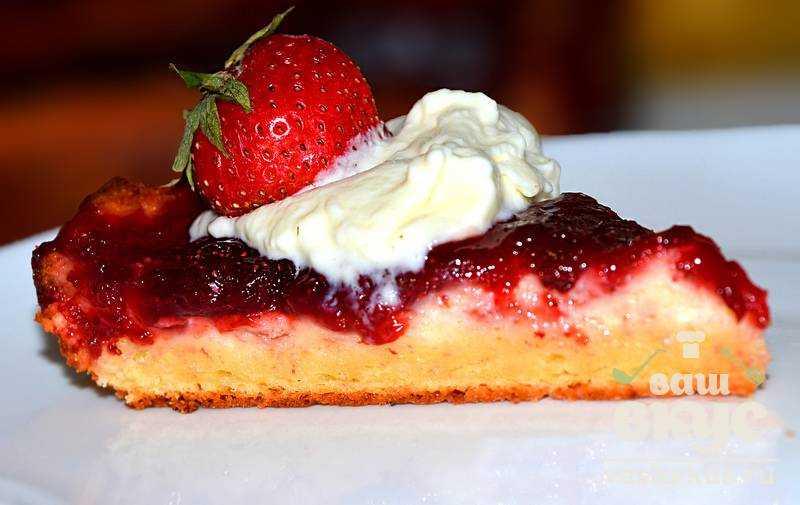 Творожный пирог с вареньем пошаговый рецепт с фото