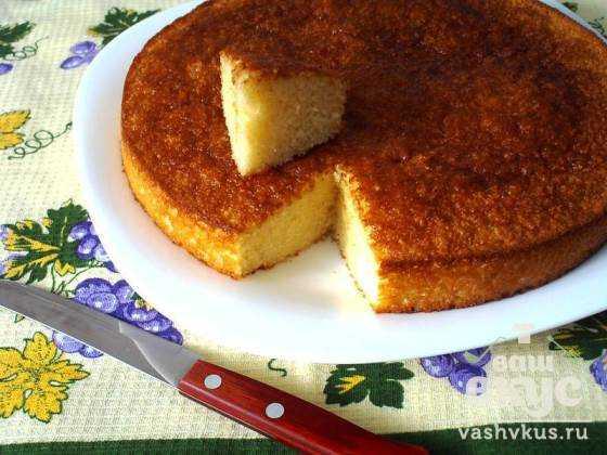 Торт манник простой рецепт на сметане