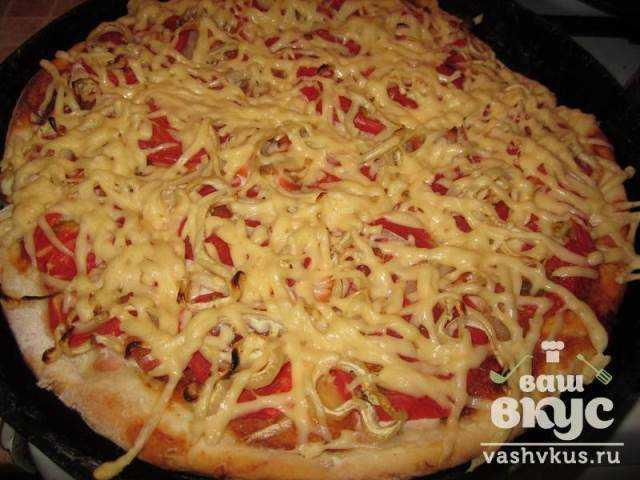 Рецепты пицца с фаршем с пошаговое
