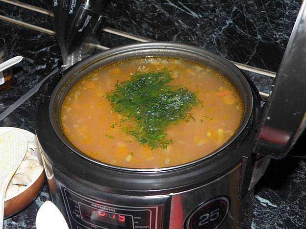 Суп с фасолью консервированной в мультиваркеы