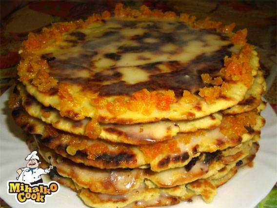 Торт медовый на сковороде рецепт с фото