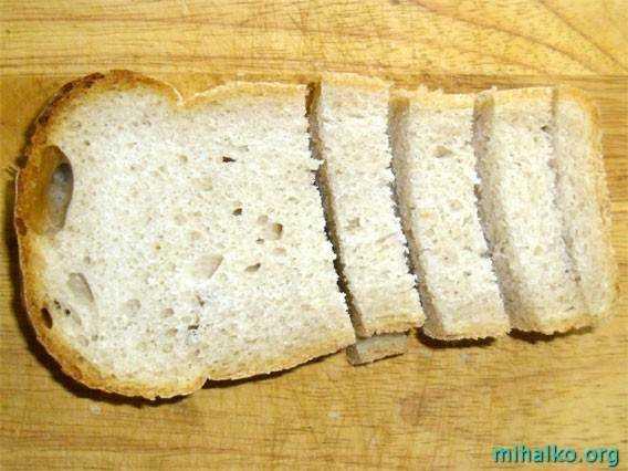Как сделать сухари в духовке из хлеба с солью