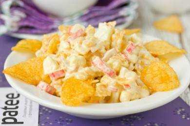 Рецепт крабовый салат с чипсами рецепт с