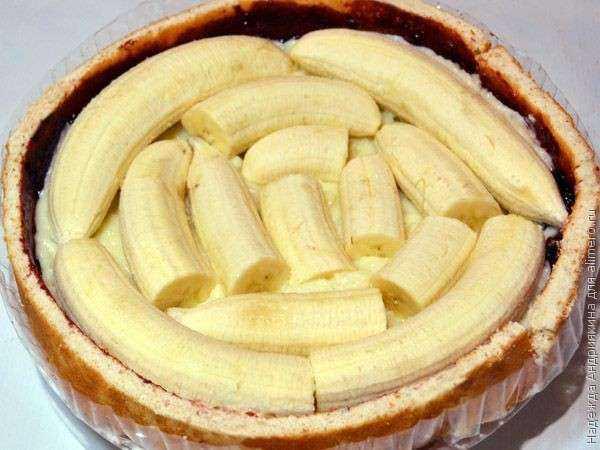 Торт с бананом фото рецепт